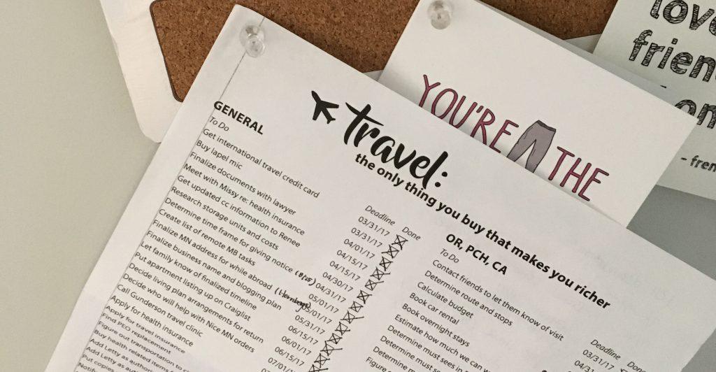 Free Travel Checklist International Hotdish