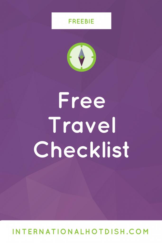 free travel checklist