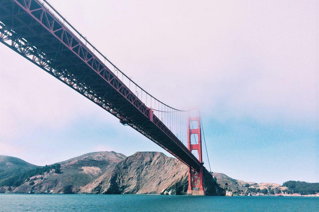 Golden Gate Bridge on Pacific Coast Highway