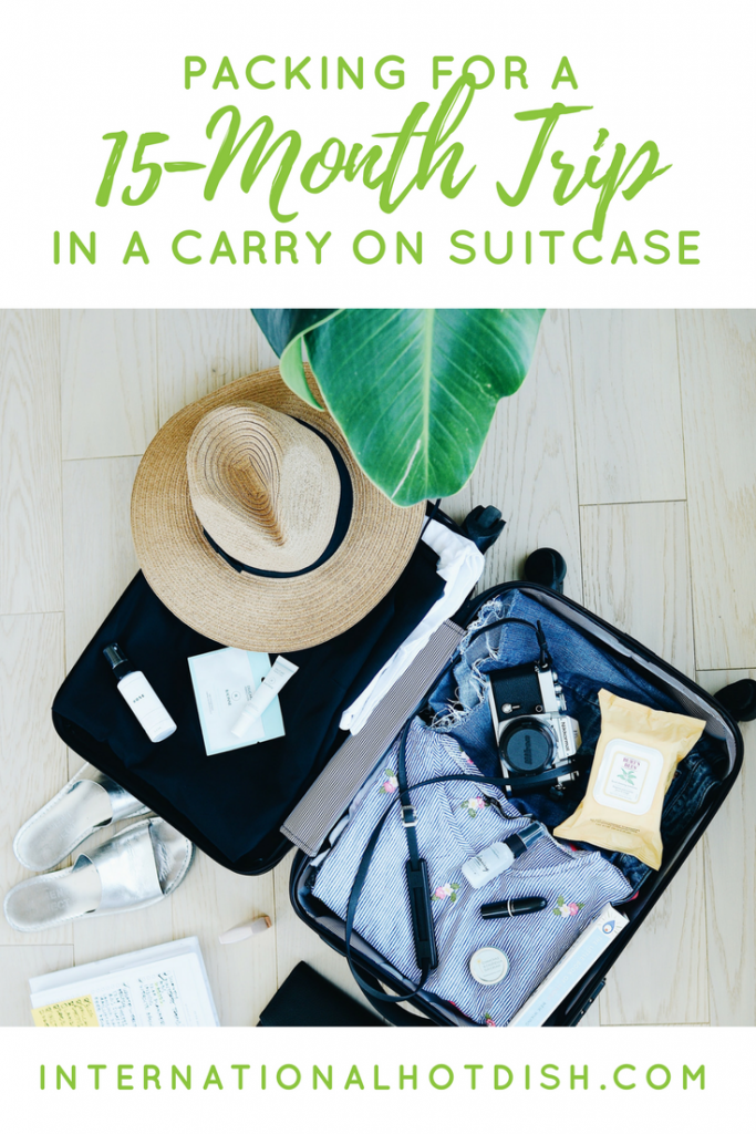 what to pack for a 15-month trip