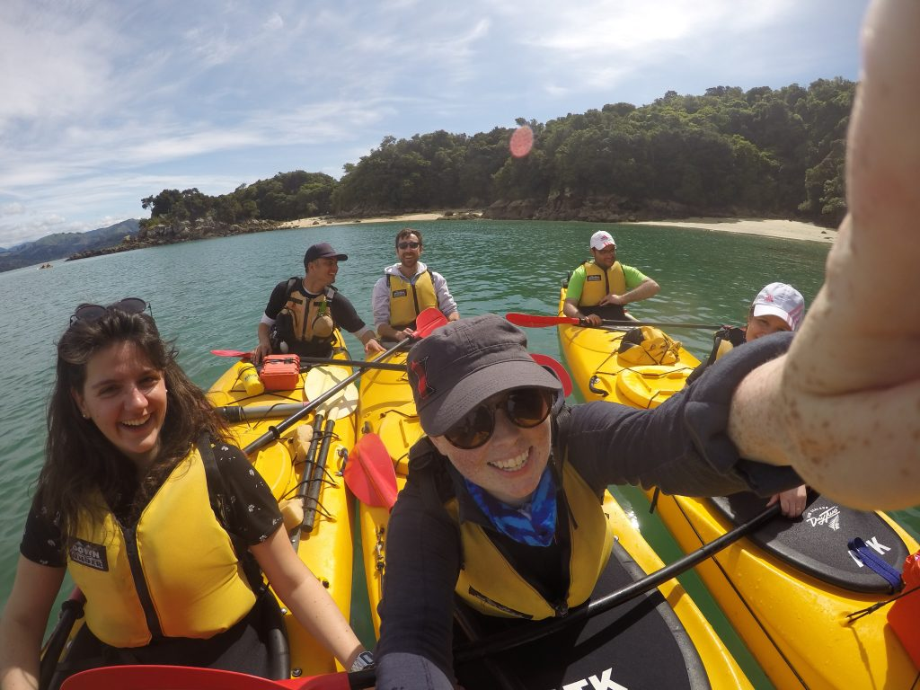 Group photo in kayaks in Abel Tasmin | International Hotdish
