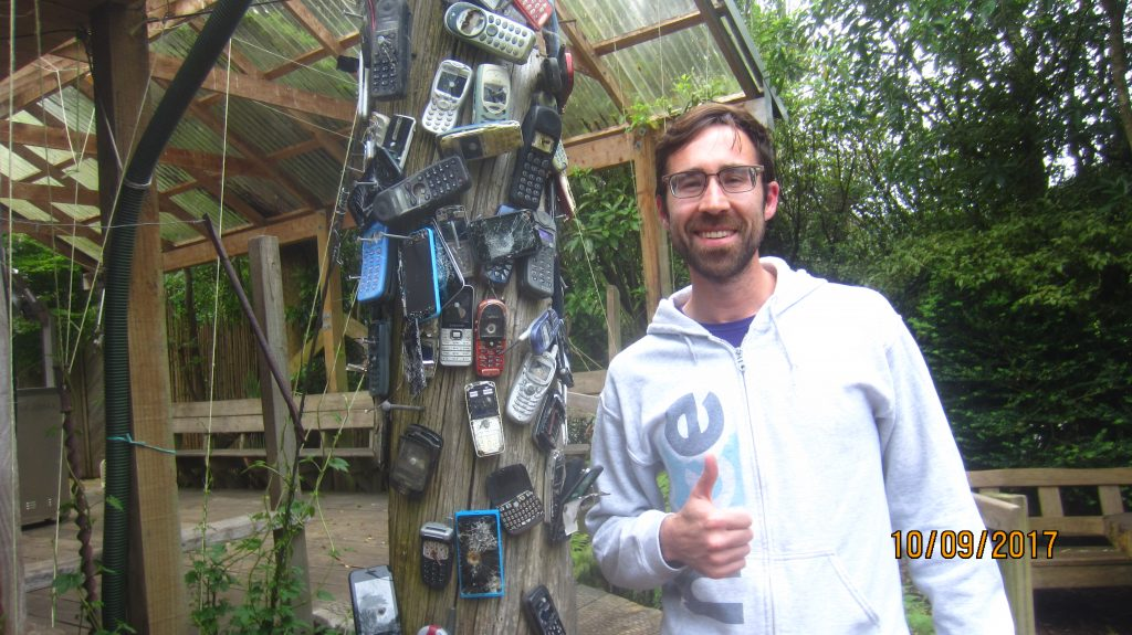 Cell phones nailed to a pole | International Hotdish