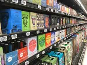 Beer aisle inn New Zealand grocery store