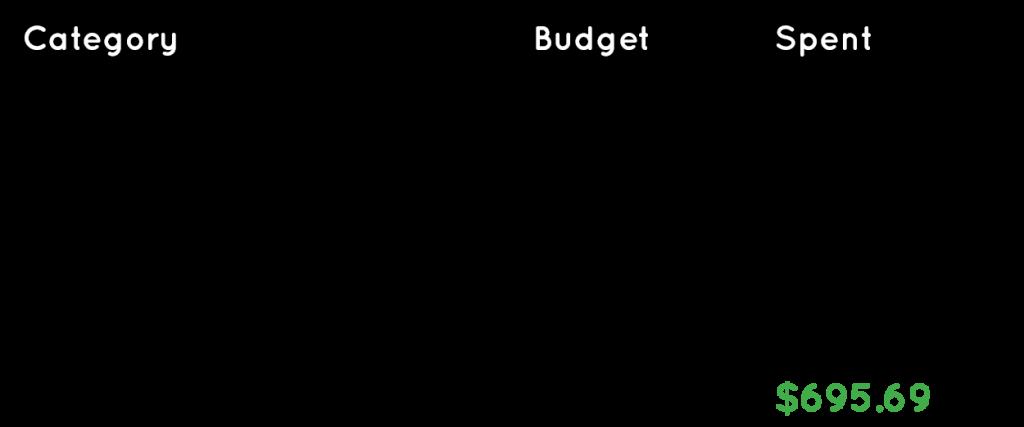 Travel expenses budget for Vienna, Austria