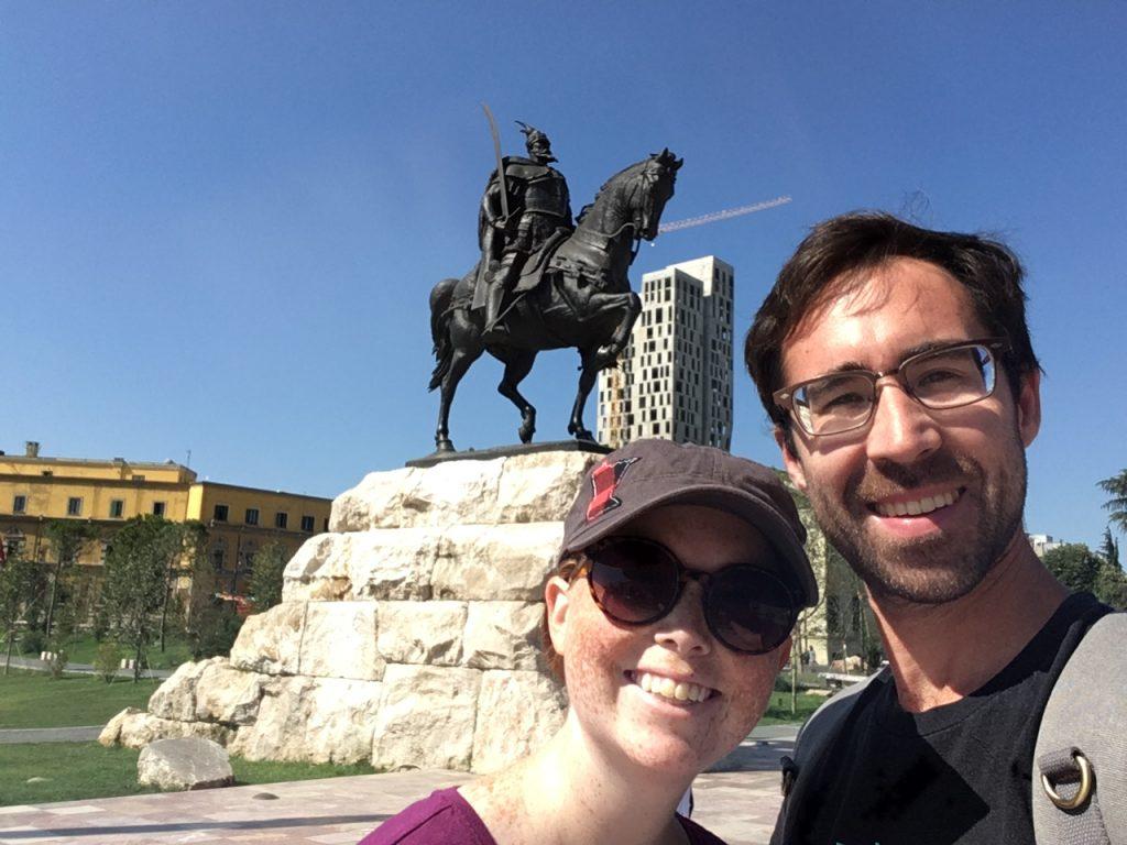 interesting things to do in tirana - horseman statue - International Hotdish