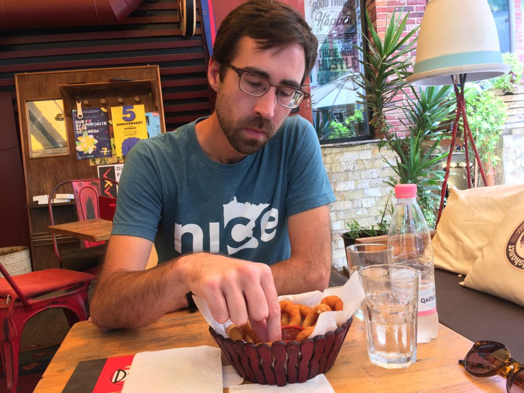 interesting things to do in tirana - onion rings - International Hotdish