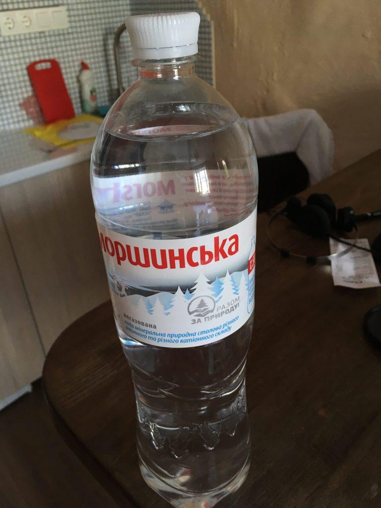 Still water in Ukraine - bottle have a white cap